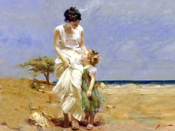 Joyous Memories lady painter Pino Daeni Oil Paintings
